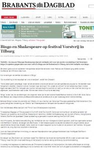 Artikel Vorstvrij Brabants Dagblad